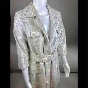 Vertigo Paris Women silver metallic coat sz S